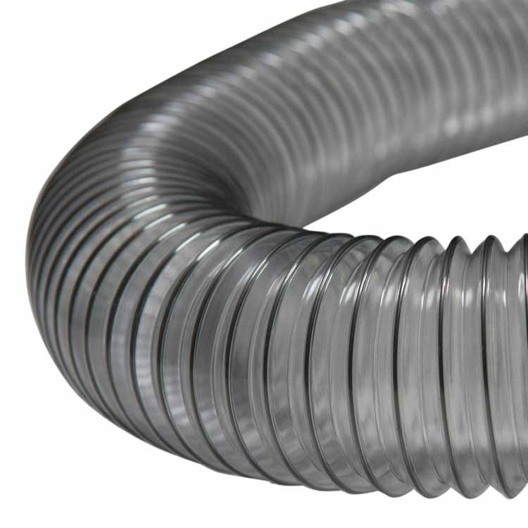 6 In Flexible Duct Hose : Quot pvc flexduct light duty clear duct hose ducting