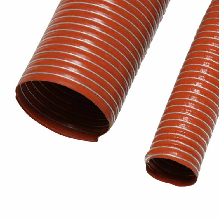 Quot silico single ply high temperature hose ducting